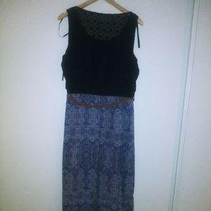 AB Studio maxi dress sz XL